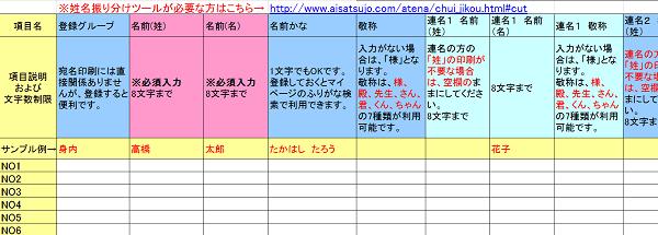 aisatsujyo-address-print-list